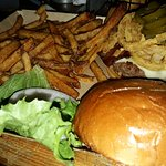 The Western Burger and fries