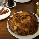 The Big Apple Pancake (before and after)