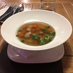 Broth with chicken and vegetables