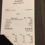 Total bill- very reasonable