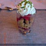 Sorbet framboises, spéculoos, fruits rouges