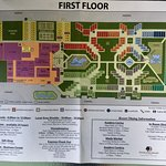 Map of 1st floor and info