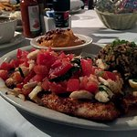Redfish Filet with Crab Roma topping