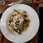 Cod with colcannon and clams