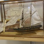 Several detailed ship models are displayed at the Maritime Museum in Southport.