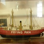 A model of the Frying Pan lightship is displayed at Southport's Maritime Museum.