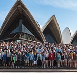 The group I was involved with on the steps of the Opera House