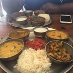 veg and nonveg thali