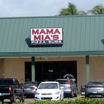 front of & parking for Mama Mia's