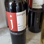 In the shop, some wine from Priorat.
