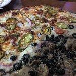 Half veggie / half chorizo and jalapeños