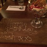 Amazing food and a special birthday sundae:)