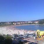 Vista de la playa de Baltar desde las habitaciones