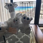 Even though we were not traveling with kids, we still enjoyed the cute towel animals.