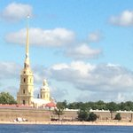From the River with the beautiful spire