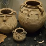 Some pots with faces on...