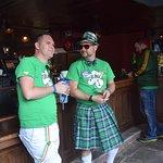 some avid celebrators at Pat O'Briens for St. Patricks Day