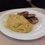 sausage and polenta plate
