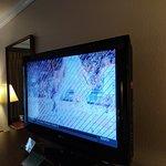 """Old, 32"""" TV.....in a $200+-per-night hotel?"""