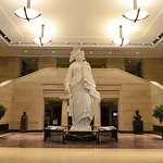 liberty of statue in the hall