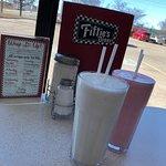 Vanilla & Strawberry Milkshakes