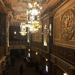 wall and ceiling above Oriental theater back foyer.