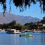 Wanaka city shoreline.