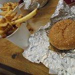 Basic cheeseburger and fries