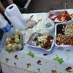 Degustacion de productos típicos de la zona.