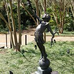 Fanciful statuary accentuates the carefully-landscaped gardens.