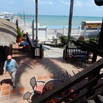 From the veranda of their bar & grill.