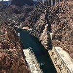 From the dam looking at the Colorado River side.