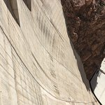 Looking down the face of the dam - watch out for the vertigo!!