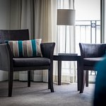 Comfortable seating areas feature in all guest rooms...and are a pleasure to relax in.