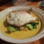 Loved the fried egg with my soup.