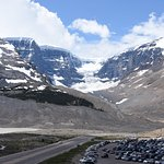 At the Columbia Icefields Visitor Center