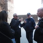 Sergio and his grateful tourists at the Colosseum