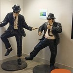 The Blues Brothers in the breakfast area. They can use a dusting.