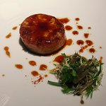 Honey-soy glazed cerry root, pastoral salad