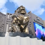 Giant lion out front