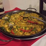 Seafood paella for two
