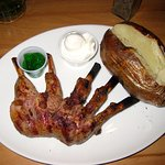 St Patrick's Day 1/2 Rack of Lamb Special with a baked potato & side salad