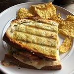 Half Grilled Chicken Caprese Sandwich