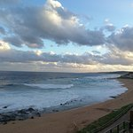 View towards Durban from lower terrace at Ocean Basket Ballito