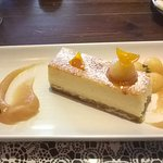Cheesecake with quince