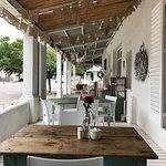The lovely veranda / stoep to enjoy coffee
