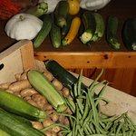 Les légumes du jardin pour la table d'hôtes