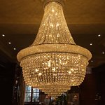 One of many stunning chandeliers
