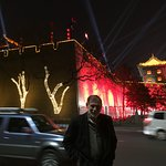"""Xi""""an City Wall at night"""