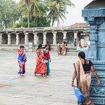 Colourful sari's in the temple